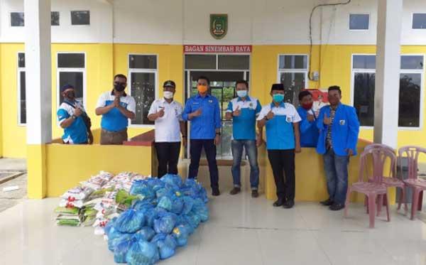 KNPI Rohil Kembali Berikan Bantuan Sembako
