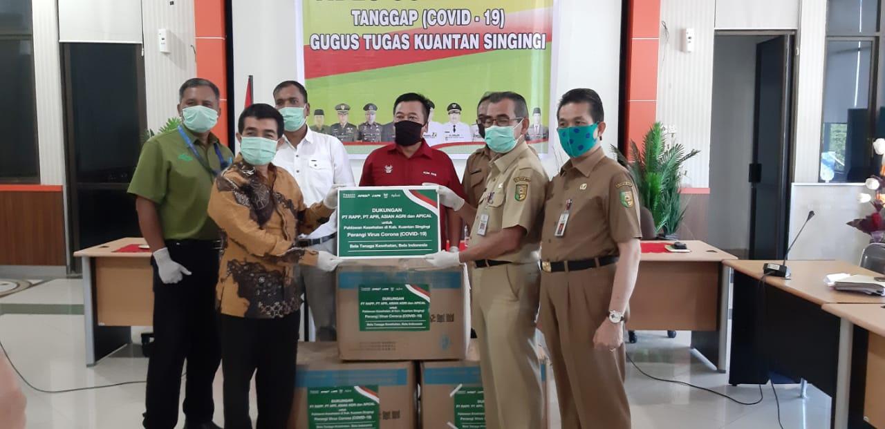 RAPP, APR, dan Asian Agri Dukung Gugus Tugas Penanganan COVID-19 Kuansing