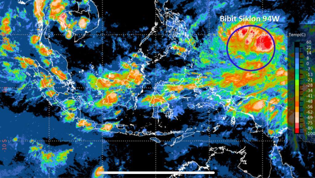 Riau dan 29 Provinsi Diminta Waspadai Potensi Bibit Siklon Tropis 94W