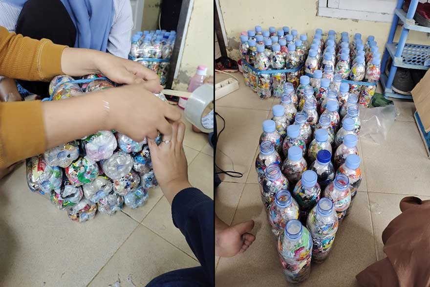 Produksi Sofa Mini dari Limbah Plastik
