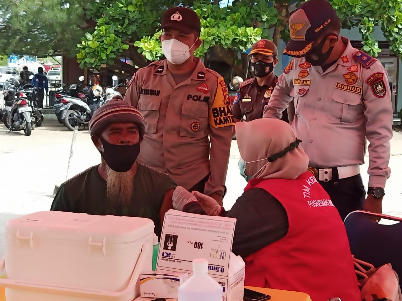 Vaksinasi Massal di Pelabuhan Roro Bengkalis, Untuk Penumpang dan Umum
