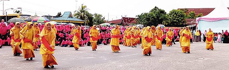 IGABA-TK Aisyiyah Gelar Senam Massal