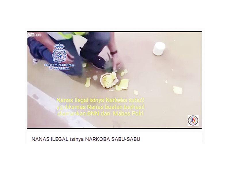 Narkoba dalam Nanas Bukan di Indonesia