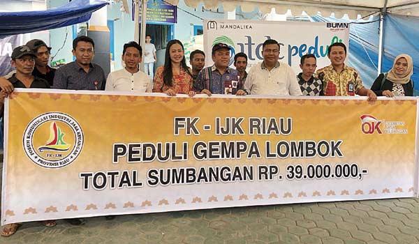 FKIJK Riau Bantu Korban Gempa NTB