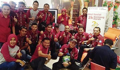 PSF Chapter Riau Ikuti Aksi Donor Darah RS Awal Bros