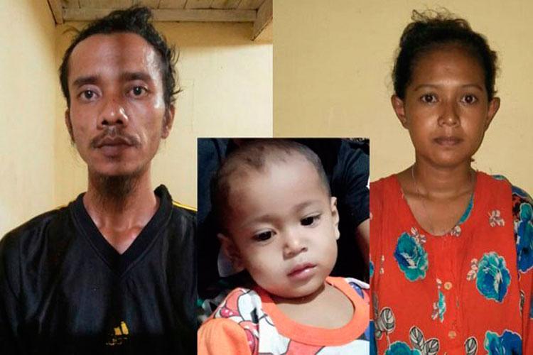 Sadis, Ibu dan Bapak Tiri Bunuh Balita