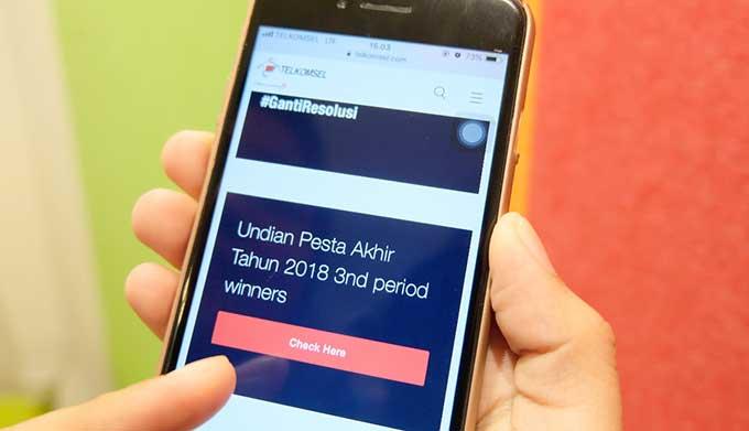 Telkomsel Umumkan Pemenang Undian Program Telkomsel Siaga