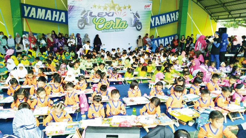 Promosikan Yamaha Lexi di Rengat