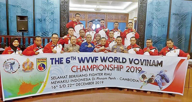 Tujuh Atlet Riau Ikuti Kejuaraan Dunia di Kamboja