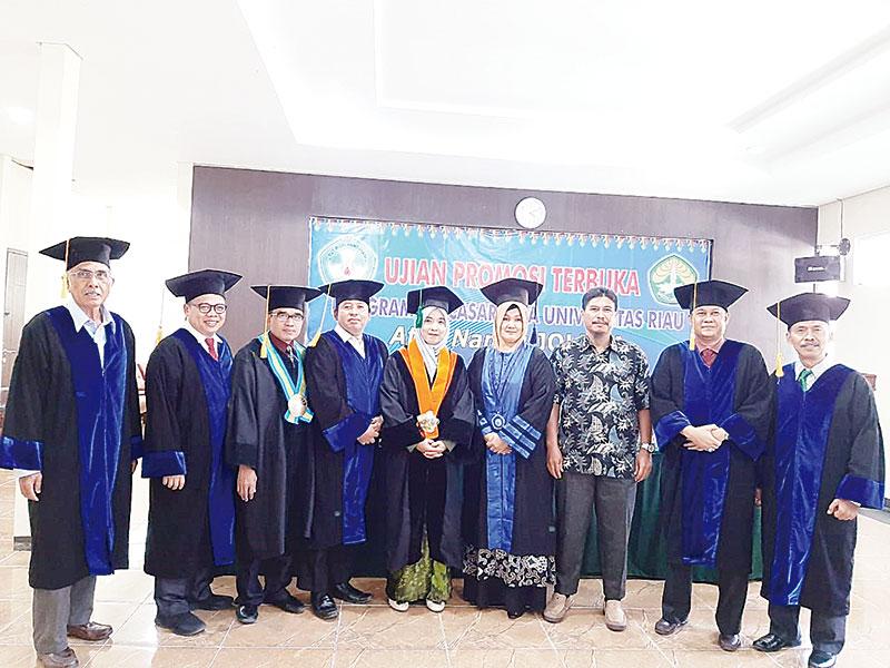Doktor Joleha, Lulusan Ke-48 Universitas Riau