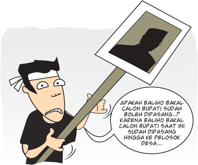 Bawaslu Data Baliho Bakal Calon Bupati