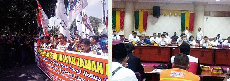 Ratusan Buruh Mengadu ke DPRD