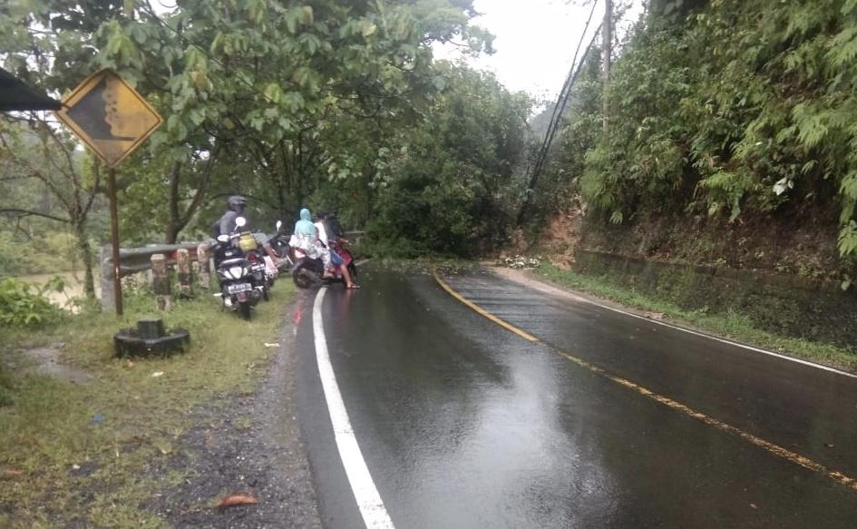 BREAKING NEWS: Rantau Berangin Longsor, Jalan Lintas Riau-Sumbar Putus