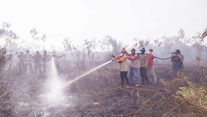 Lahan di Kuala Kampar Kembali Terbakar