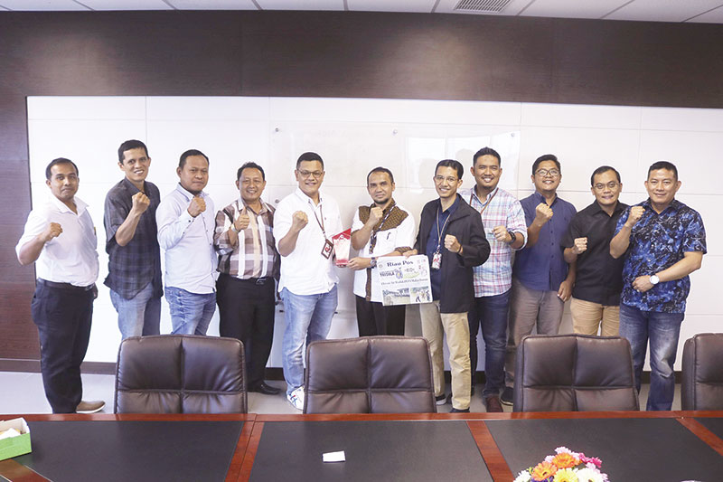 Telkomsel Kunjungan Silaturahmi ke Riau Pos