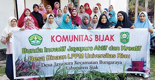 Komunitas BIJAK Dilatih Tim Desa Binaan LPPM Unri