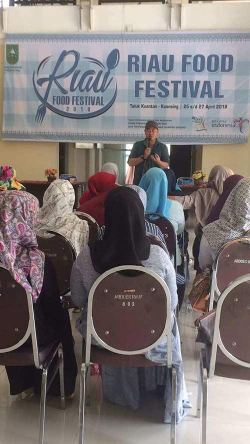 Dispar Gelar Riau Food Festival di Kuantan Singingi