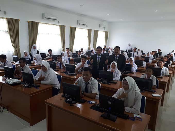 MTs Muhammadiyah 02 Pekanbaru UNBK Secara Mandiri