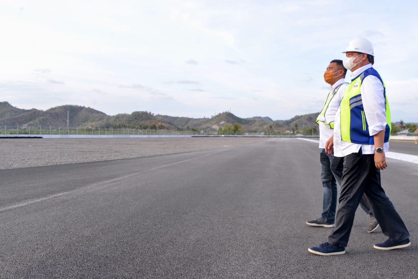 Menko Airlangga Tinjau Sirkuit Mandalika dan Bandara Lombok