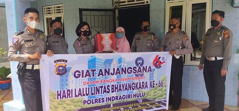 Polres Inhu Sambangi Purnawirawan Polantas