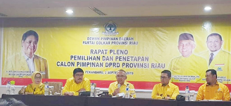 Golkar Beri Sinyal Ganti Kader Pimpin DPRD Riau