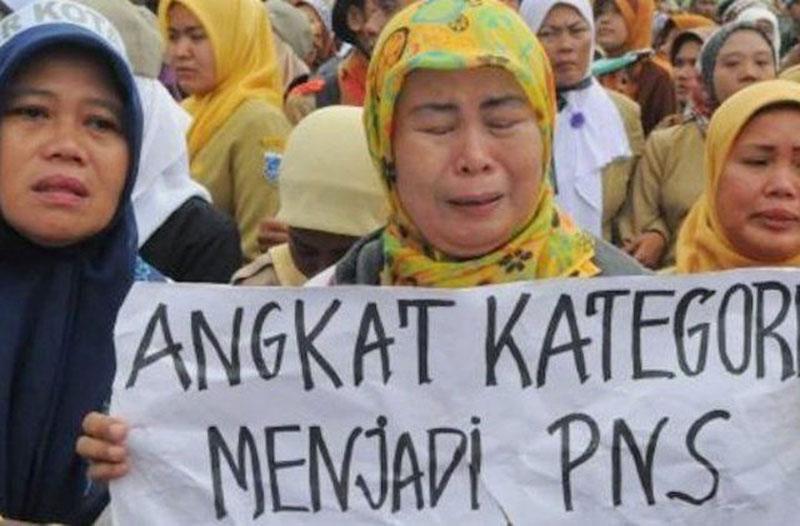 Honorer K2 Anggap Pemerintah Tak Adil