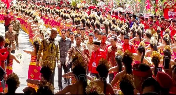 Prabowo Hadir di Pembukaan Kongres V PDIP, Fadli: Silaturahmi Politik