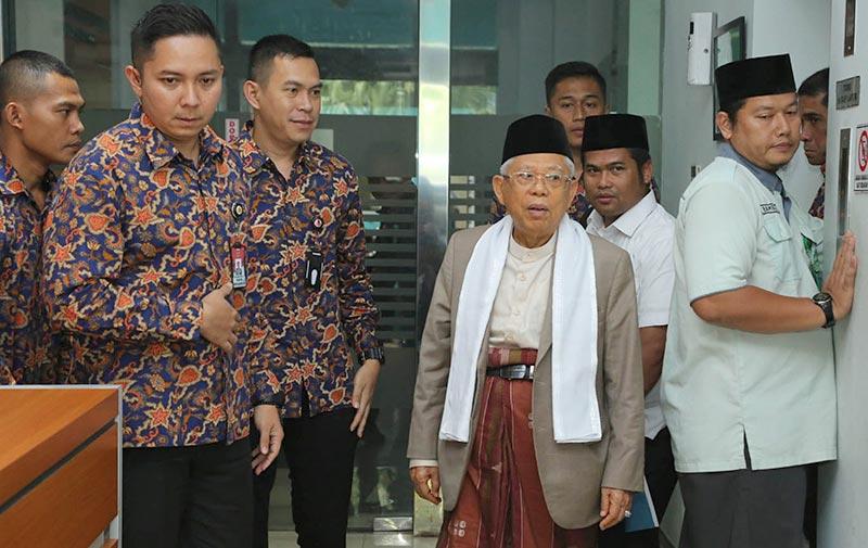KH Ma'ruf Amin Tanggalkan Jabatan di MUI setelah Dilantik