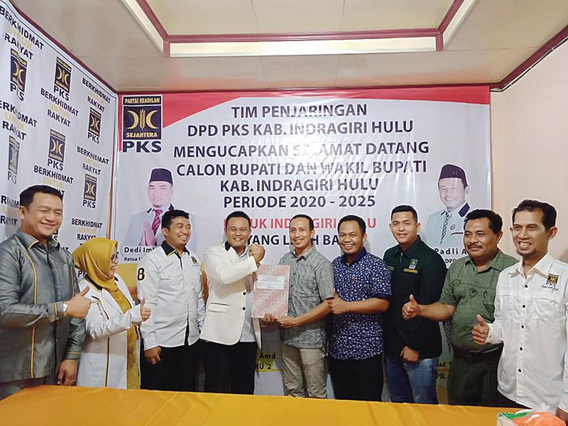 Giliran Ade Agus Hartanto Mendaftar di DPD PKS Inhu