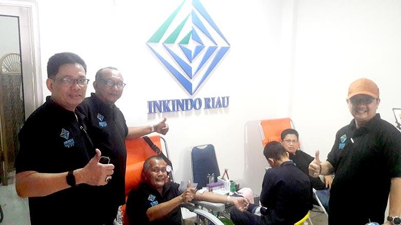HUT Ke-40 Inkindo, DPP Riau Bakti Sosial Donor Darah