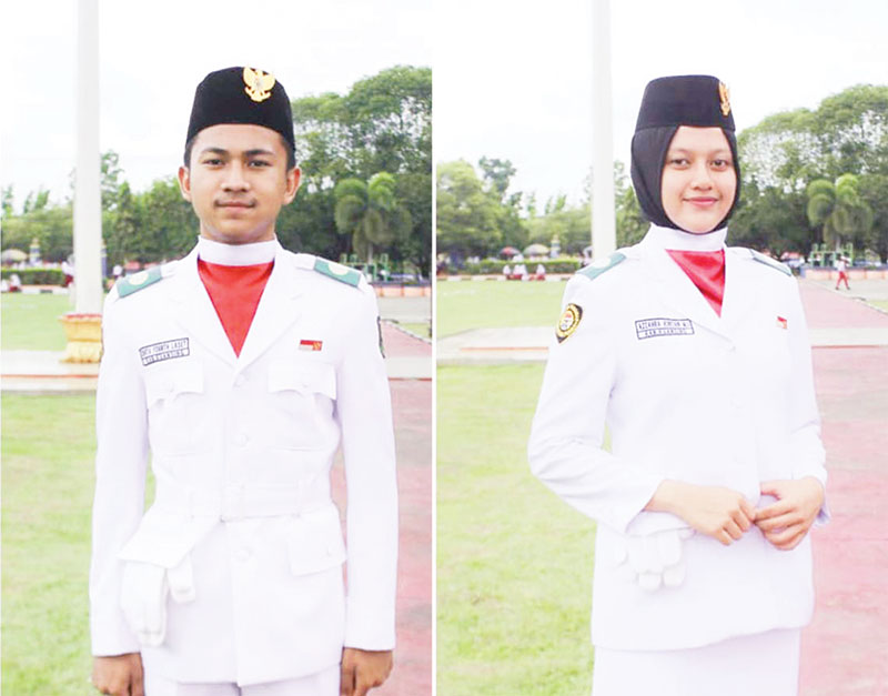 Dua Pelajar SMAN 1 Telukkuantan Wakili Kuansing Untuk Paskibra Riau