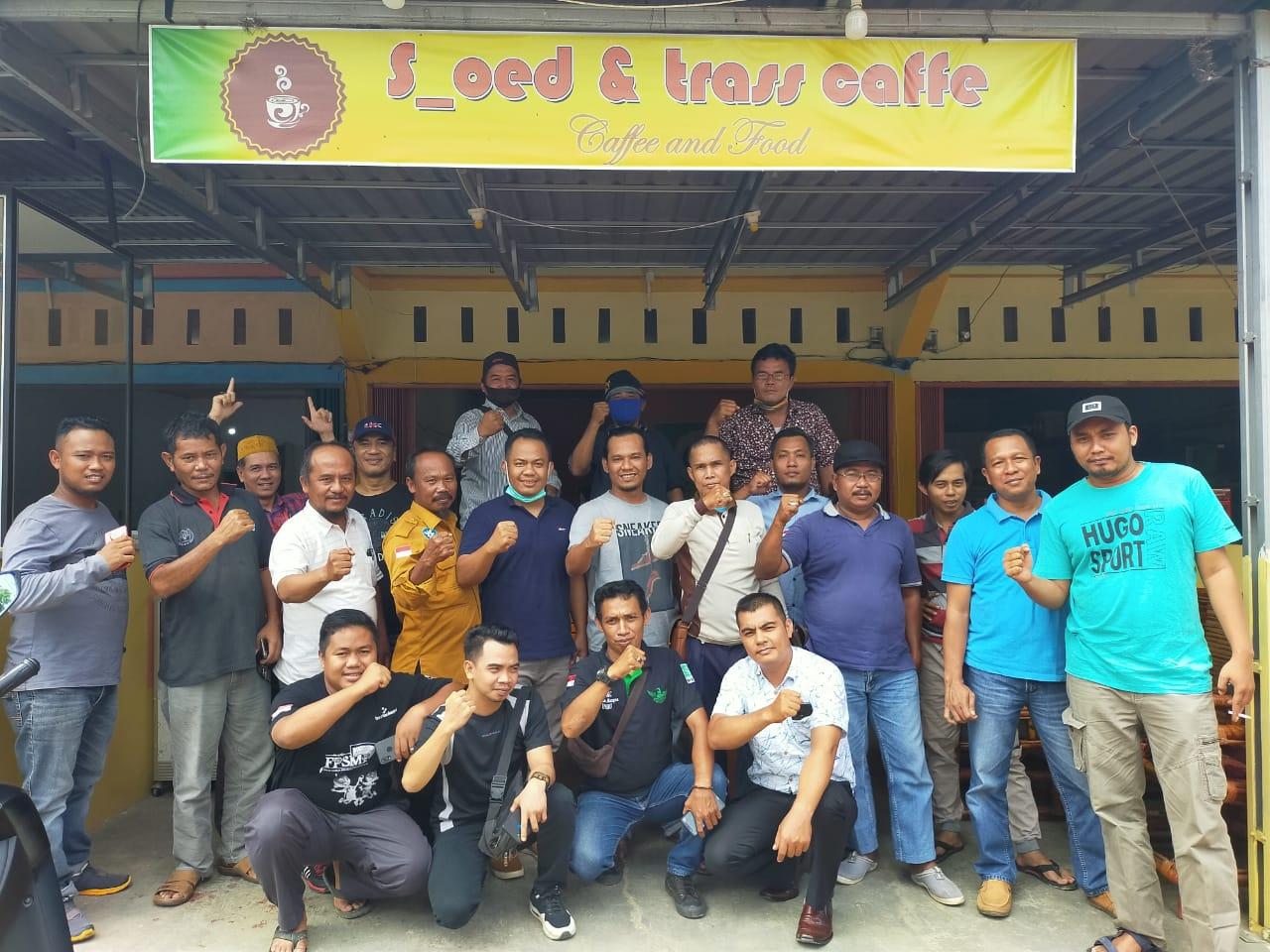 Ketua Tim Pemenangan Ridho Silaturahmi dengan Wartawan Inhu