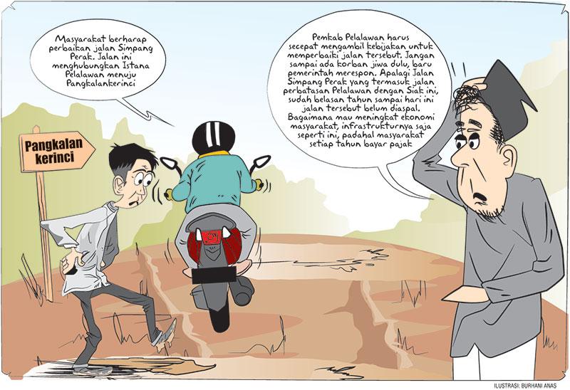 Pemkab Diminta Perbaiki Jalan Simpang Perak