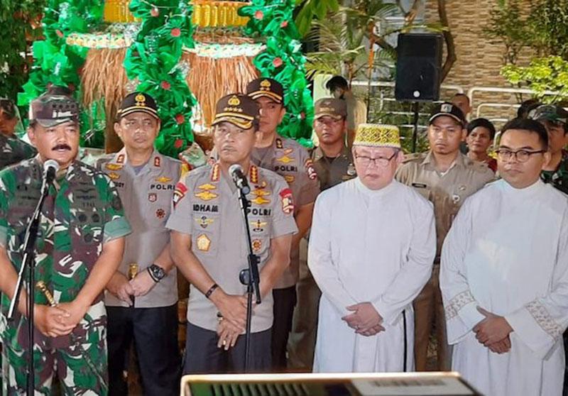 Kapolri dan Panglima TNI Pastikan Natal Aman