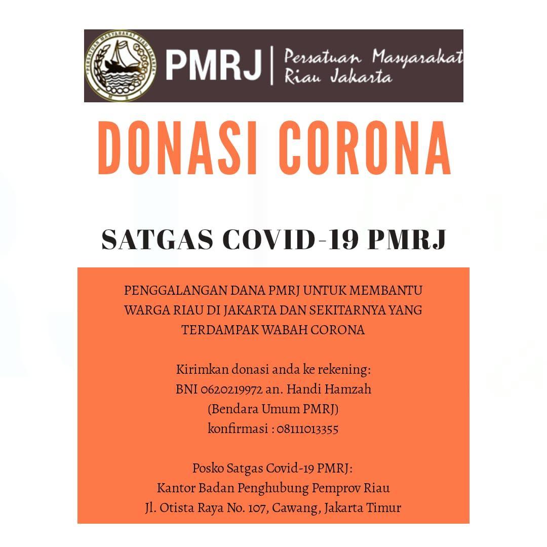 Bantu Warga Riau di Jakarta, PMRJ Bentuk Satgas Covid-19