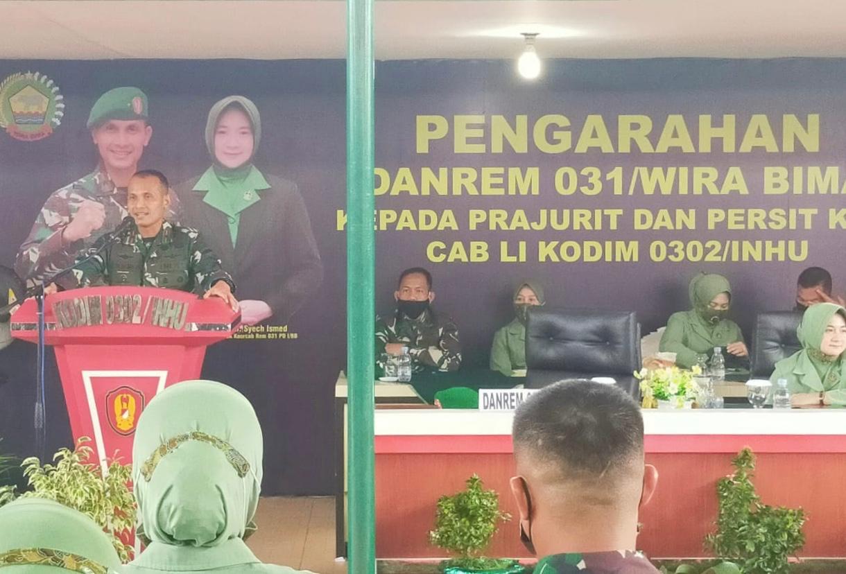 Sebaran Covid-19 Rendah, Danrem Apresiasi Kabupaten Inhu