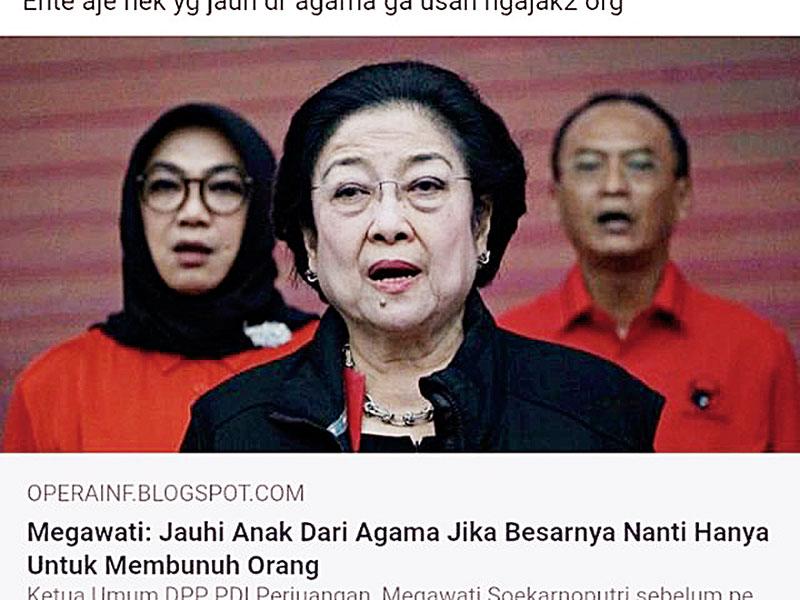 Pernyataan Megawati Dipelintir