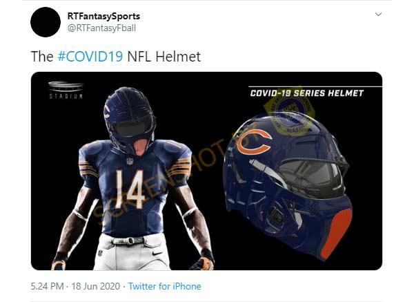 Disain Helm Covid-19