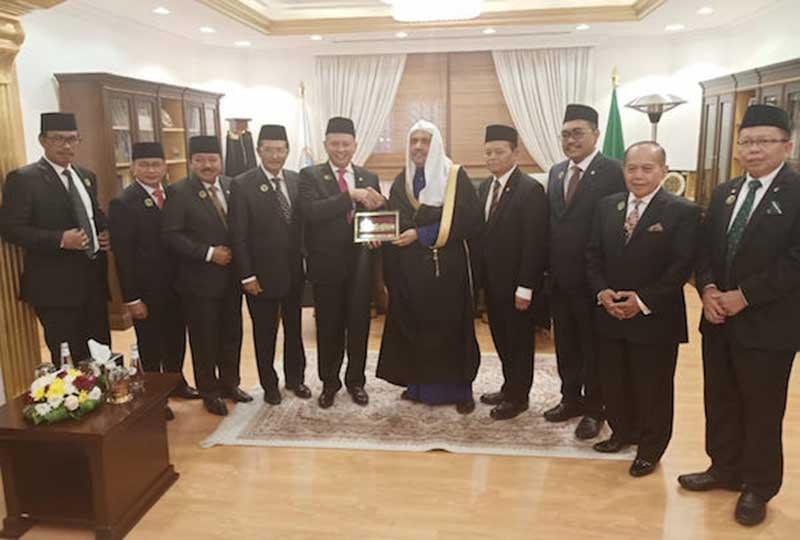 Pimpinan MPR Bertemu Tokoh Liga Muslim Sedunia