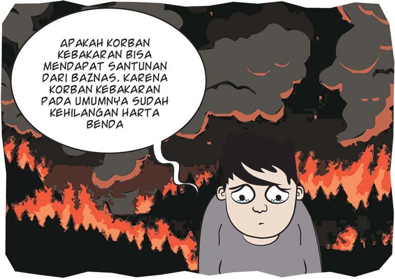 Baznas Inhu Bantu Korban Kebakaran