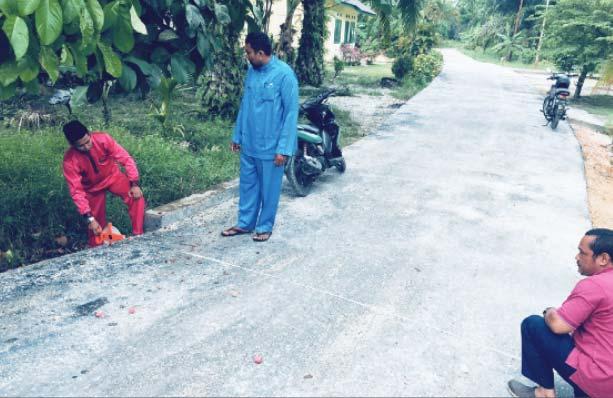 Gesa Pembangunan Jalan Kampung yang Berbatasan dengan Kota Siak