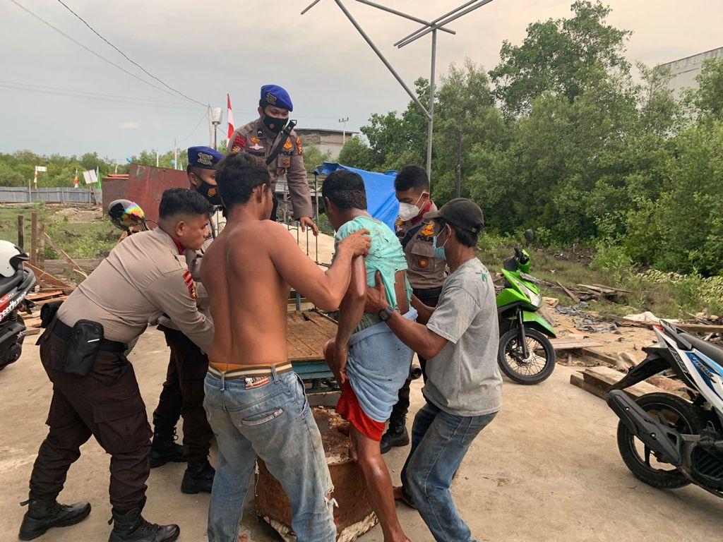 Drum BBM Terbakar, Dua Karyawan dan ABK Luka Bakar