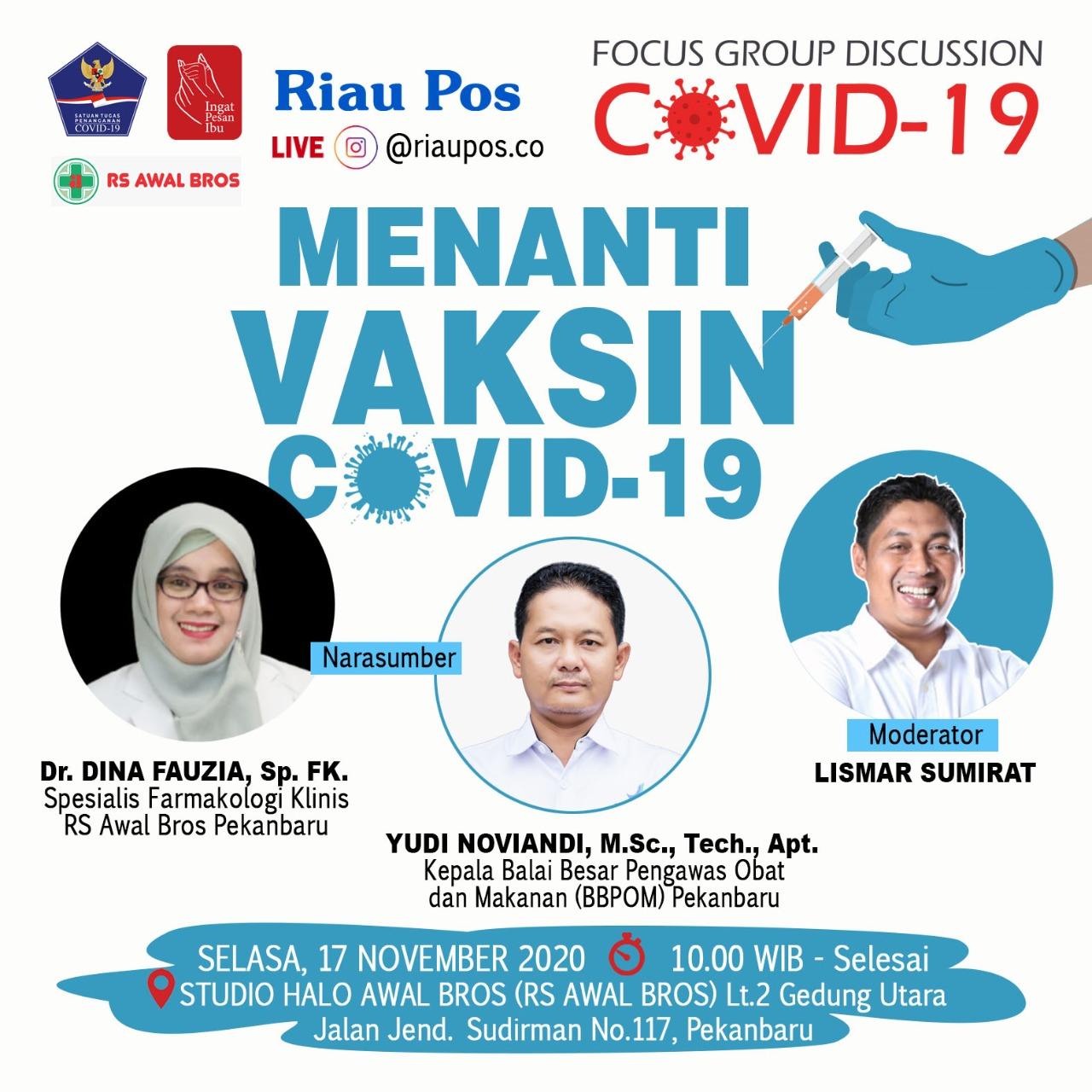 Riau Pos FGD Bahas Vaksin Covid-19