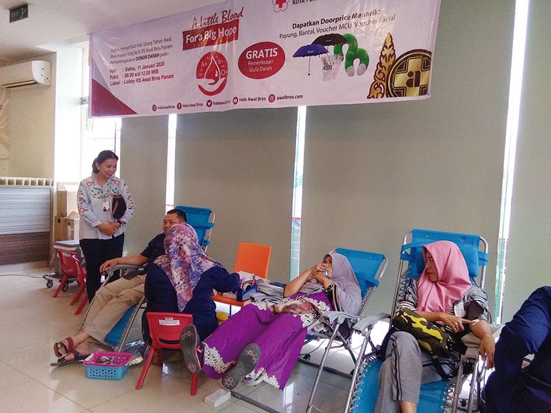 Awal Bros Panam Taja Donor Darah