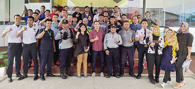 Gelar Simulasi Penanggulangan Kebakaran di Graha Pena Riau
