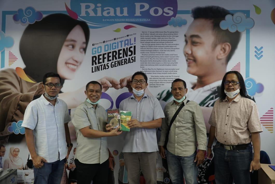 Maju di Bengkalis, Bagus Santoso Silaturahmi ke Riau Pos