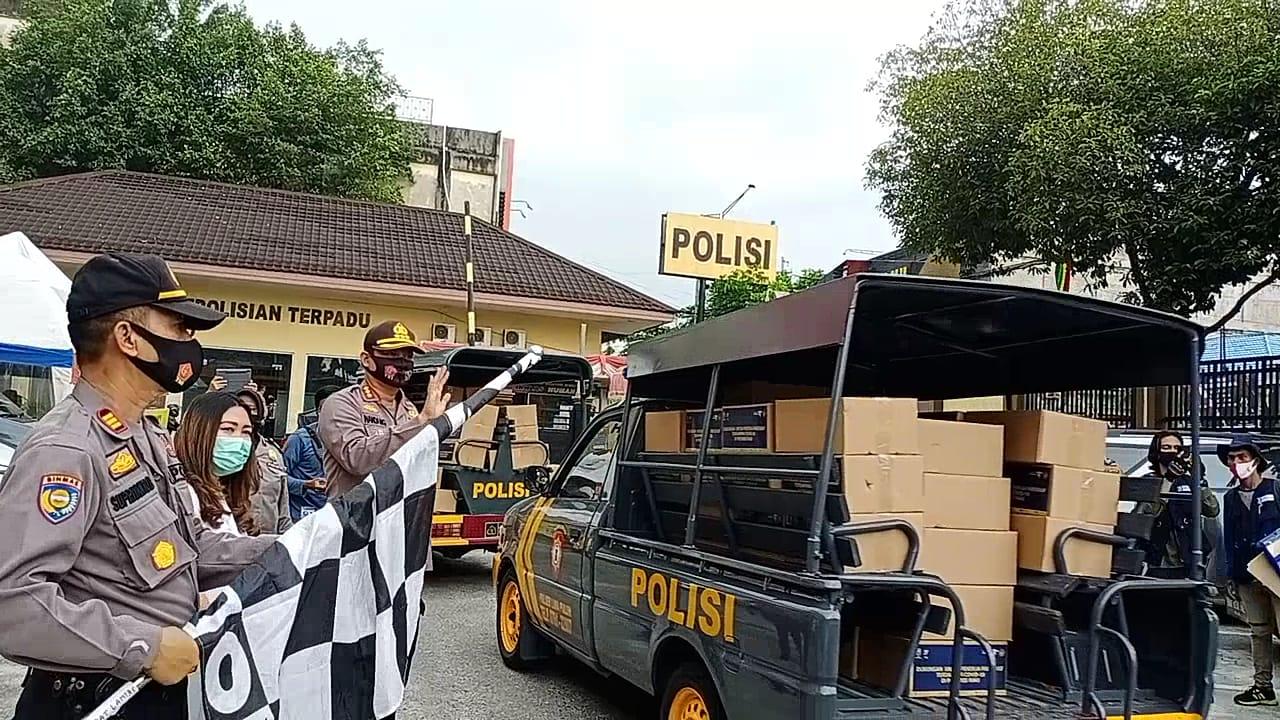 4.039 Paket Sembako Kemenparekraf Disalurkan Polresta Pekanbaru