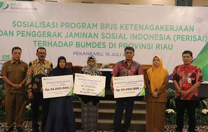 BPJS Ketenagakerjaan Gandeng Perisai Sosialisasi Program ke BUMdes