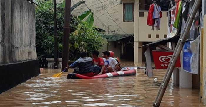 Banjir di Jakarta Renggut Nyawa Dua Orang