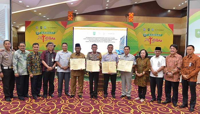 Kerja Sama dengan Bank Riau Kepri, E-Samsat Resmi Diluncurkan